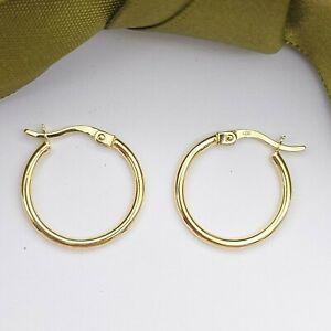 Ladies Earrings 9ct (375,9K) Yellow Gold Small Round Hoop Earrings