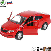 Diecast Car Scale 1:36 Skoda Rapid Russian Model Car