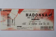 MADONNA  used ticket billet  14 Juillet 2012  au Stade de France St Denis PARIS