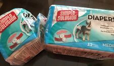 New SIMPLE SOLUTIONS Dog DIAPERS Size Medium (17 Diapers)