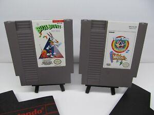 NES NINTENDO GAMES LOT~TINY TOONS 2+BUGS BUNNY CRAZY CASTLE GREAT SHAPE !