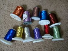11 spools Rod Building Wrapping Embroidery threads