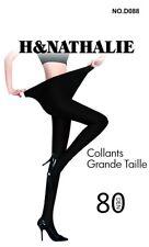 Collant opaque noir H&Nathalie L-4XL