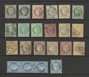 France 1870 - 1871 Ceres collection, 22 stamps