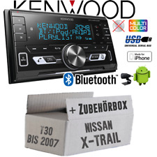 KENWOOD autoradio pour NISSAN X-trail t30 à 2007 2din/Bluetooth/USB Kit de montage
