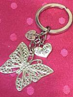 Fairy Keyring Pink Hearts New Fairy Bag Charm Gift LB49
