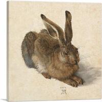 ARTCANVAS Young Hare 1502 Canvas Art Print by Albrecht Durer