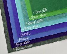 "Wow Mermaid FabricCollection Merino Wool Blend Felt, Eight 9"" X 12"" Sheets"