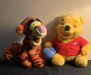 "Disney Winnie The Pooh with Honey Pot 12"" and Tigger 10"" Plush Stuffed Animal"
