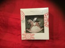 Wedgwood Babys First Christmas 2016 Pink Rocking Horse Porcelain Ornament Nib