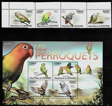 BURUNDI Sc 872-6 NH SET+MINISHEET of 2011 - BIRDS