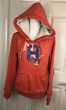 Mens Abercrombie And Fitch Hoodie Small Muscle Worn Ripped style Hooded Jumper