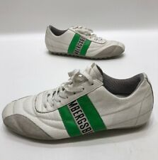 Bikkembergs Mens White/green Leather Soccer Trainers Sneakers Mens Size 40