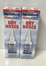 2 Pack - NeilMed NasoGEL Aloe Dry Noses, Drip Free Gel Spray 1 fl oz Bottle Each