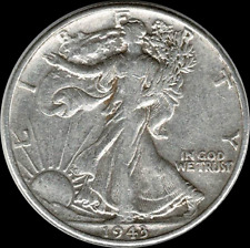 A 1943 P Walking Liberty Half Dollar 90% SILVER US Mint (Exact Coin Shown) W33
