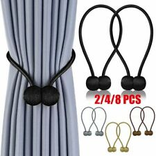 Curtain Tie Backs Magnetic Ball Buckle Holder Tieback Clips Home Window 2/4/8PCS