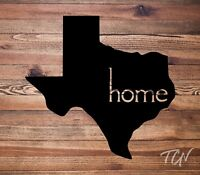 Texas Home Vinyl Decal Sticker | Car Decal | Tumbler Decal | Laptop Decal | USA