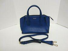 DKNY Purse Blue Leather Shoulder Handbag t