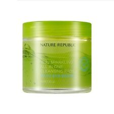 [NATURE REPUBLIC] JEJU SPARKLING ALL IN ONE CLEANSING PADS / Korean Cosmetics