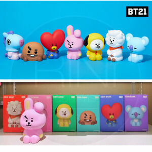 BTS BT21 Official Authentic Goods Figure Coin Bank + Tracking Num