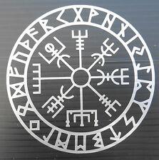 Icelandic Compas Vegvisir gods myths stickers/car/bumper/window/decal 5203Silver