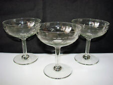 ANCIENNE COUPE A CHAMPAGNE EN VERRE x 3 / FLUTE VIN RAISIN OLD GLASS (n°23)