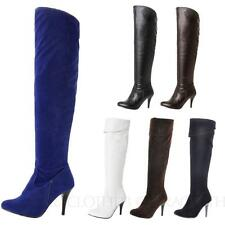 Party Knee High Boots Pull On Synthetic Shoes for Women
