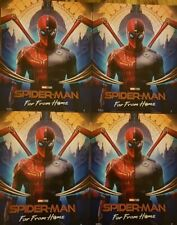 4 x SPIDERMAN Poster Far From Home Suits - Official Odeon Movie Glossy Approx A4