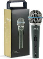 Stagg SDM60 Pro Vocal + Instrument Microphone + Mic Case + XLR Lead 2Yr Warranty