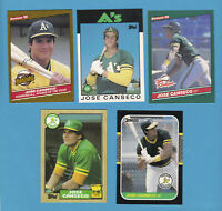 JOSE CANSECO ROOKIE LOTS U - PICK TRADED & D HIGHLIGHTS ROY A'S ATHLETICS RCS +