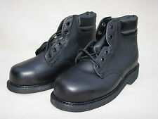 New Bates Black Leather Safety Shoes, Size 11 Narrow