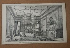 Antique Architects print Music Room 6 Gloucester Road Regents Park The builder