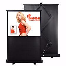 "Maxstar 77"" Portable Folding Floor Pull Up Projector Screen 16:9 aluminium Case"