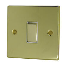 Discount Electrix 1 Gang 2 Way 10 Amp Light Switch Polished Brass Finish With WH