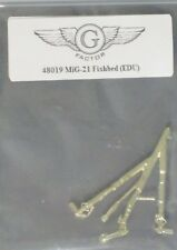 G Factor Models 1/48th Scale MiG-21 Fishbed Brass Landing Gear Item No. 48019