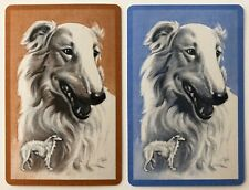 Pair of Vintage Swap/Playing Cards - BEAUTIFUL DOGS  - Mint Cond