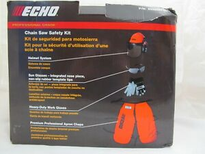 ECHO CHAIN SAW SAFETY KIT CHAPS, HELMET, GLOVES, GLASSES 99988801527