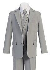 Formal Big Boys Suit Slim Cut 5 Ps Set Jacket Pants Vest Dress Shirt Tie 2t -20