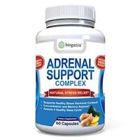 Adrenal Support Supplement Supports Healthy Adrenal Function 60 Caps Bioganix
