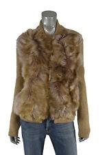 Women's Ralph Lauren Polo Shearling Fur Cardigan Sweater Jacket M