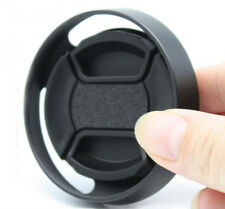 43mm metal tilted vented Lens Hood Shade + Lens cap For Leica Contax Fujifilm 1