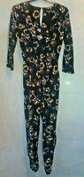 Miss Selfridge Jumpsuit Full Length Black floral design Long sleeves Size 8 NEW