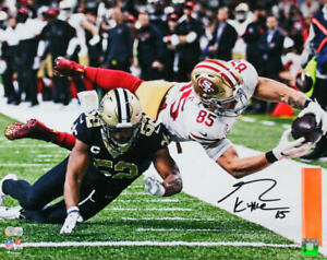 George Kittle Signed SF 49ers 16x20 Diving Catch Vs Saints Photo- BA W Hologram