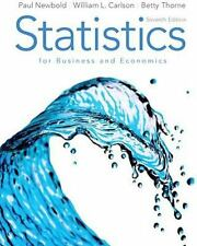 Statistics for Business and Economics, by Newbold Thorne Carlson 7th Edition