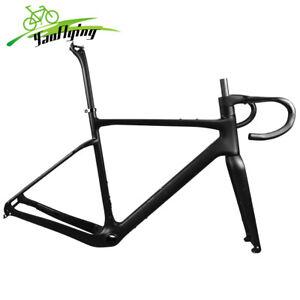 700*40C Disc Carbon Fiber Gravel Frameset Road Bike Bicycle Frame Fork Drop Bar