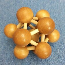 """3D wooden Puzzle brain twister teaser """"atomic structure"""" clever contest gift"""