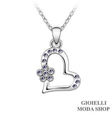Collana Donna Ciondolo Cuore con Crystal Swarovski Elements - G147