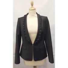 TED BAKER black embellished formal tux suit blazer smart dress jacket party 2 10