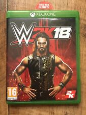 WWE 2K18 2018 EMPTY CASE Xbox One Replacement case Box No Game