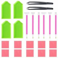 DIY Diamond Painting Tool Kits, ABS + Silicone Materials Including Tweezers T6G4